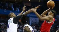 ロンドが先発に、ニコがローテに戻り久々の勝利。 1Q 2Q 3Q 4Q Total Chicago Bulls (32-35) 36 22 29 28 115 Charlotte Hornets (29-38) 24 2 […]